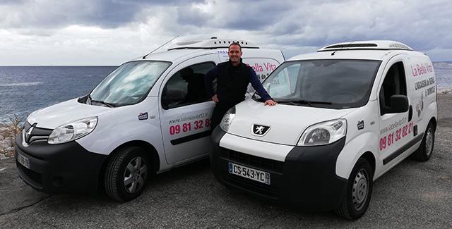 Notre véhicule pour le portage de repas sur Marseille